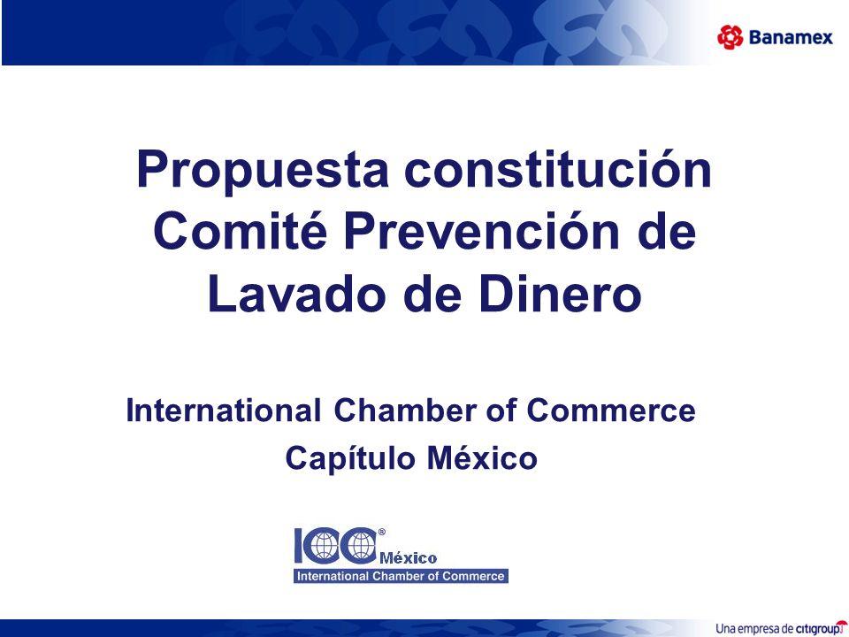 Propuesta constitución Comité Prevención de Lavado de Dinero