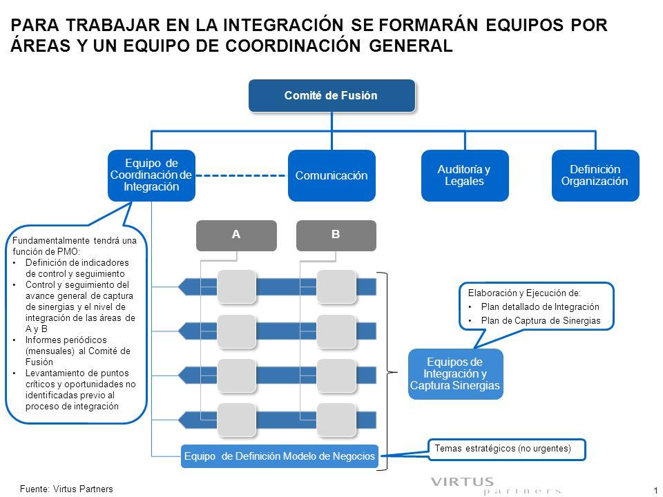 EQUIPOS DE INTEGRACIÓN Y CAPTURA DE SINERGIAS – INTEGRANTES