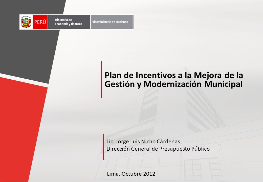 Contenido Incentivos Municipales Antecedentes Marco Conceptual
