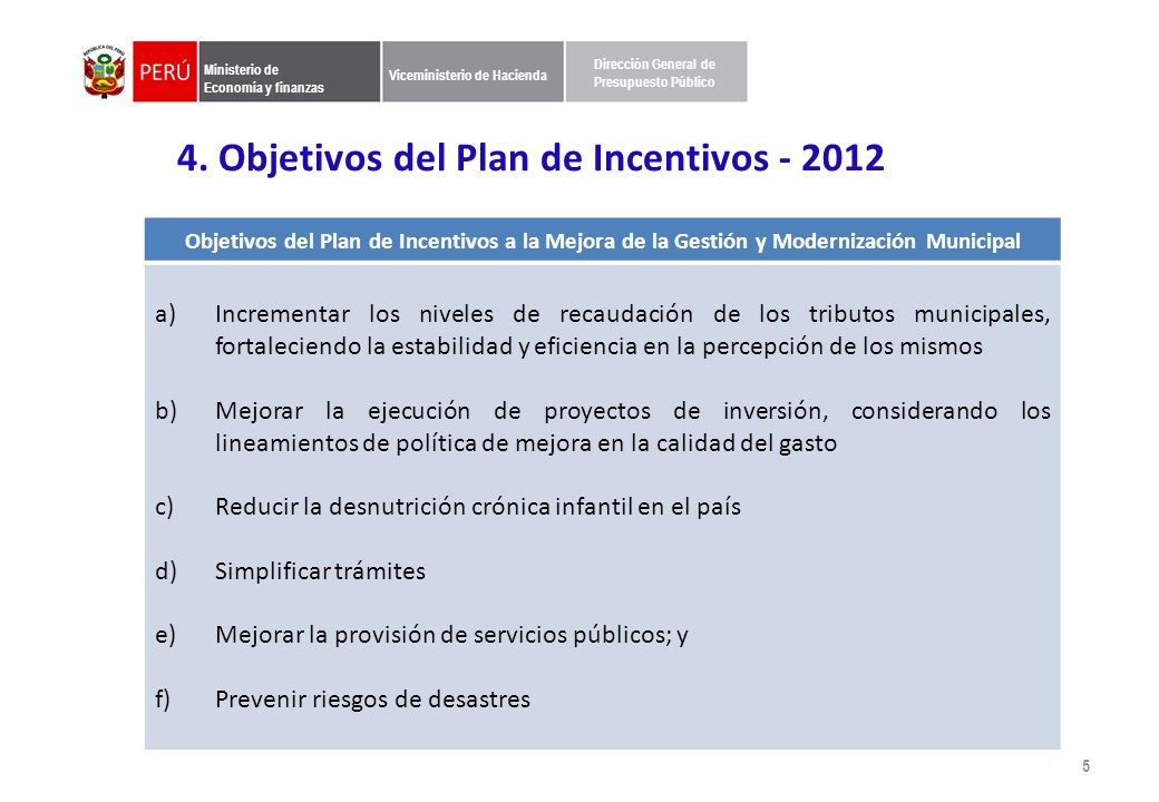 5. Clasificación de Municipalidades