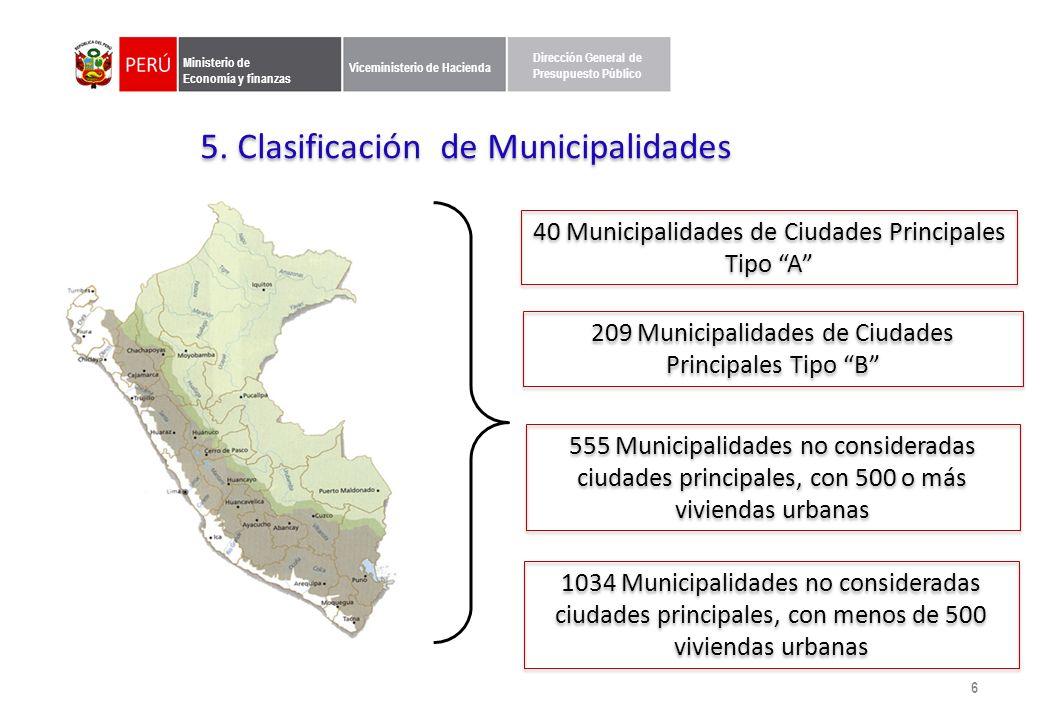 6. Operatividad del los Incentivos Municipales