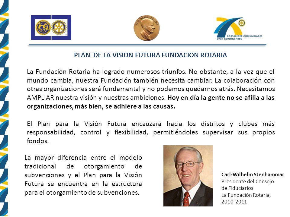 PLAN DE LA VISION FUTURA FUNDACION ROTARIA
