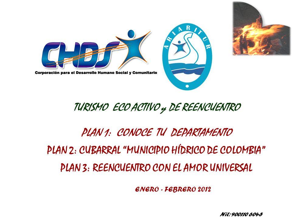 TURISMO ECO ACTIVO y DE REENCUENTRO PLAN 1: CONOCE TU DEPARTAMENTO