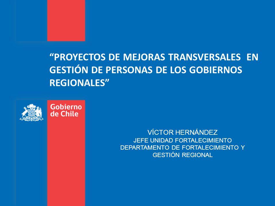 PROYECTOS DE MEJORAS TRANSVERSALES EN GESTIÓN DE PERSONAS DE LOS GOBIERNOS REGIONALES