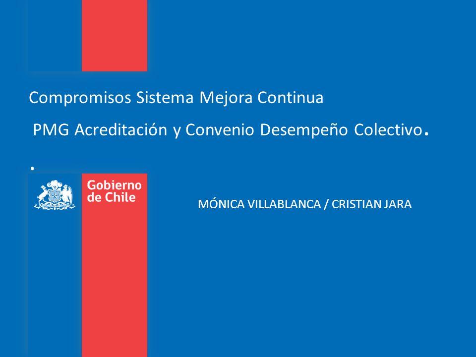 Compromisos Sistema Mejora Continua PMG Acreditación y Convenio Desempeño Colectivo. .