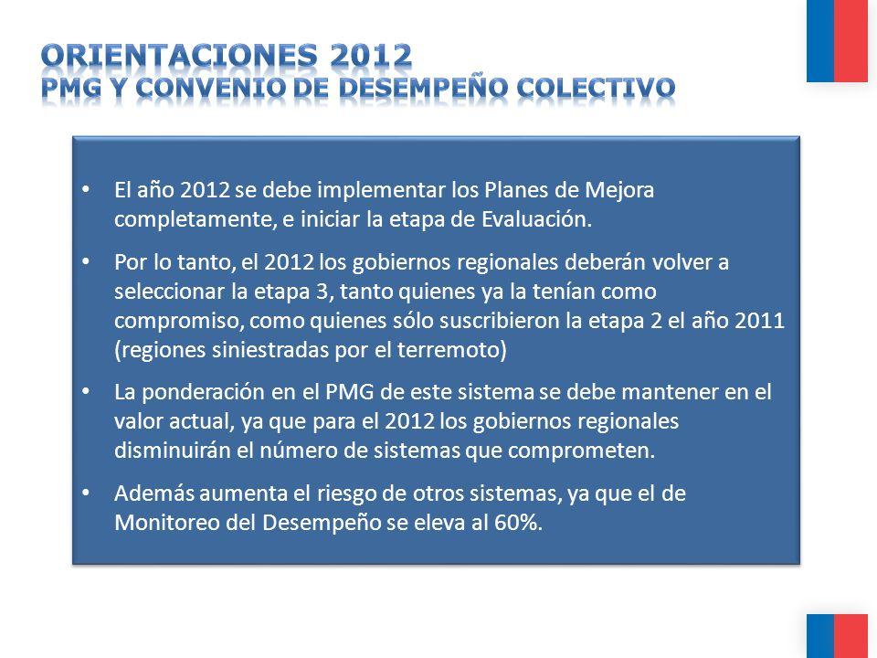 ORIENTACIONES 2012 PMG Y CONVENIO DE DESEMPEÑO COLECTIVO