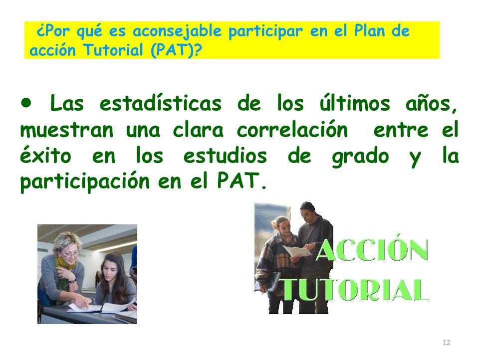 ¿Por qué es aconsejable participar en el Plan de acción Tutorial (PAT)