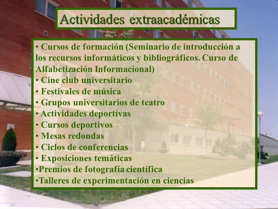 Actividades extraacadémicas