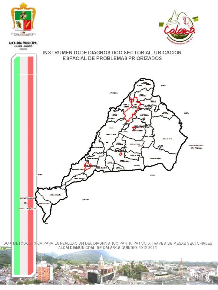 INSTRUMENTO DE DIAGNOSTICO SECTORIAL UBICACIÓN ESPACIAL DE PROBLEMAS PRIORIZADOS