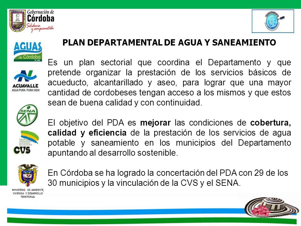 PLAN DEPARTAMENTAL DE AGUA Y SANEAMIENTO