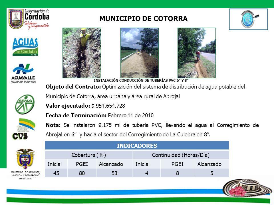 INSTALACIÓN CONDUCCIÓN DE TUBERÍAS PVC 6 Y 8