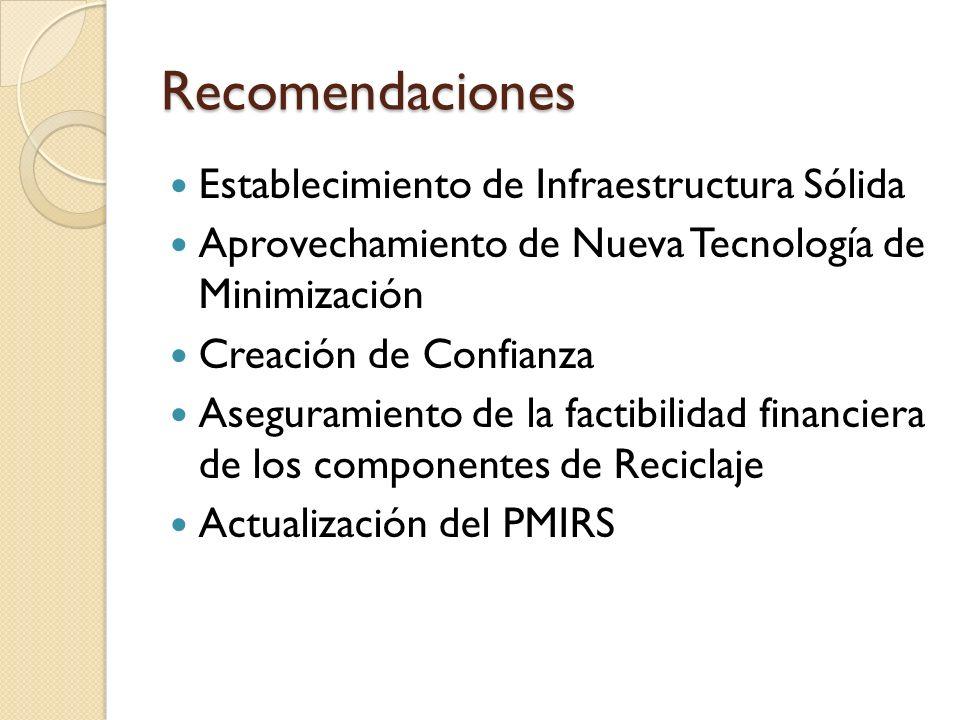 Recomendaciones Establecimiento de Infraestructura Sólida