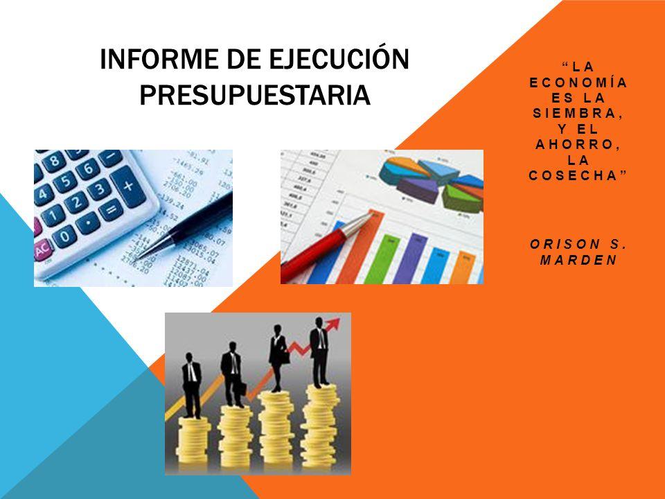 Informe de ejecución presupuestaria