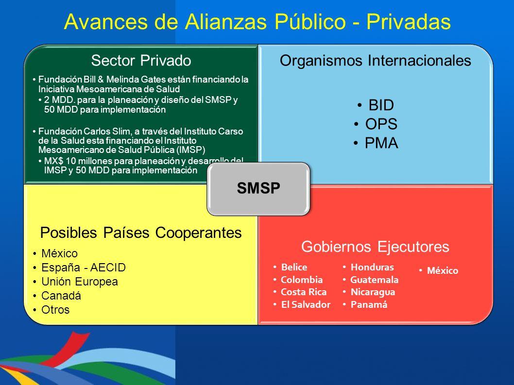 Avances de Alianzas Público - Privadas