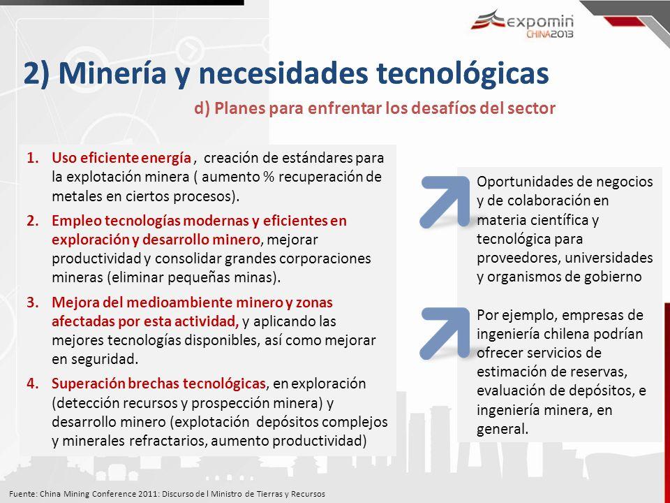 2) Minería y necesidades tecnológicas