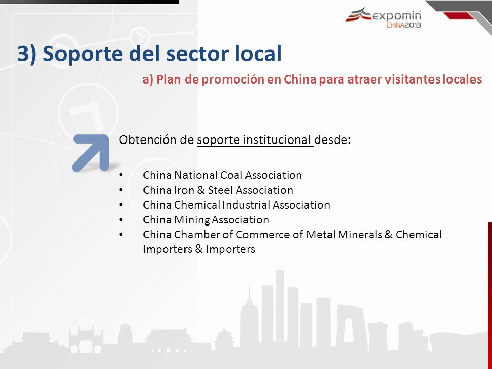 3) Soporte del sector local