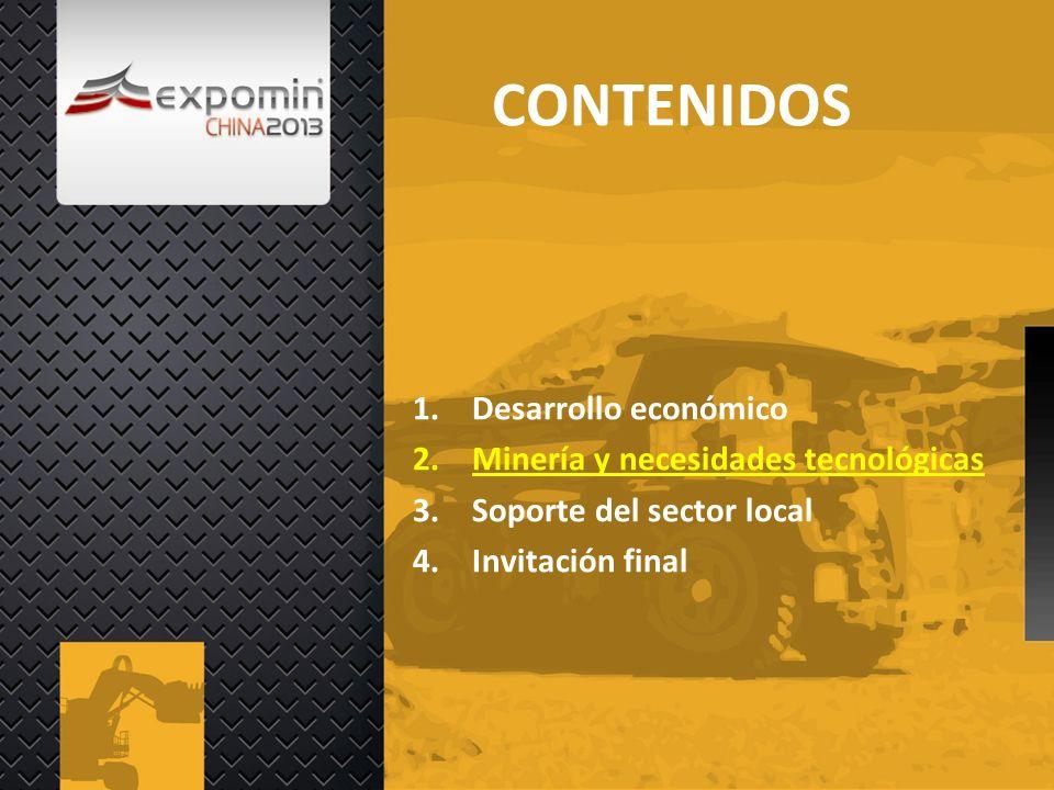 CONTENIDOS Desarrollo económico Minería y necesidades tecnológicas