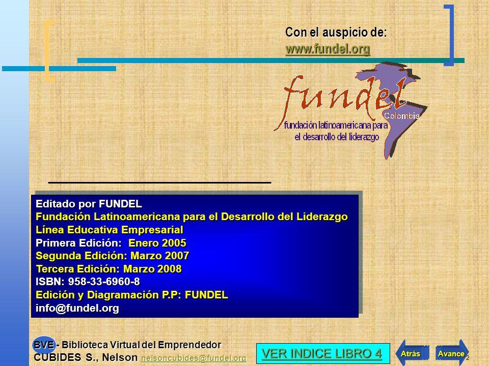 Con el auspicio de: www.fundel.org VER INDICE LIBRO 4