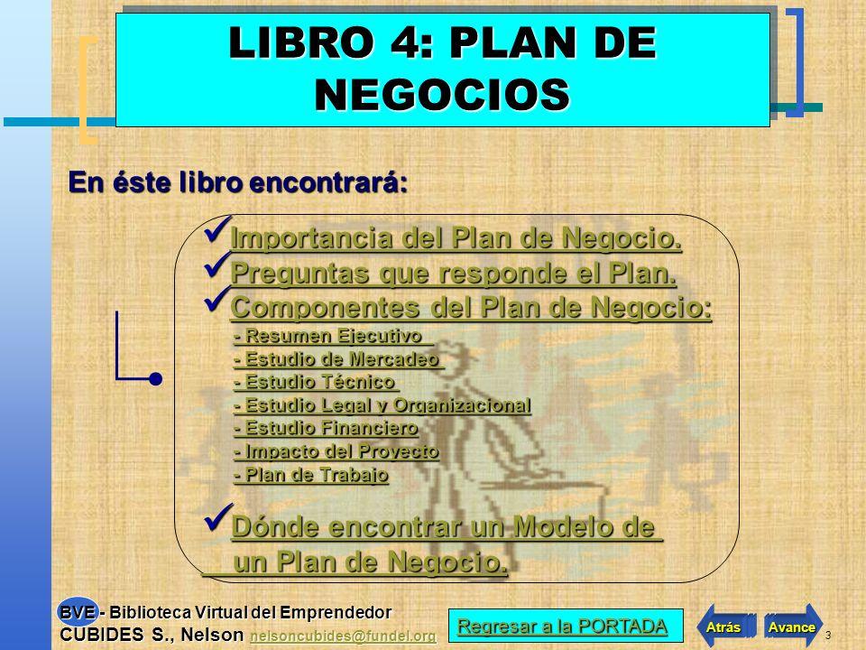 LIBRO 4: PLAN DE NEGOCIOS