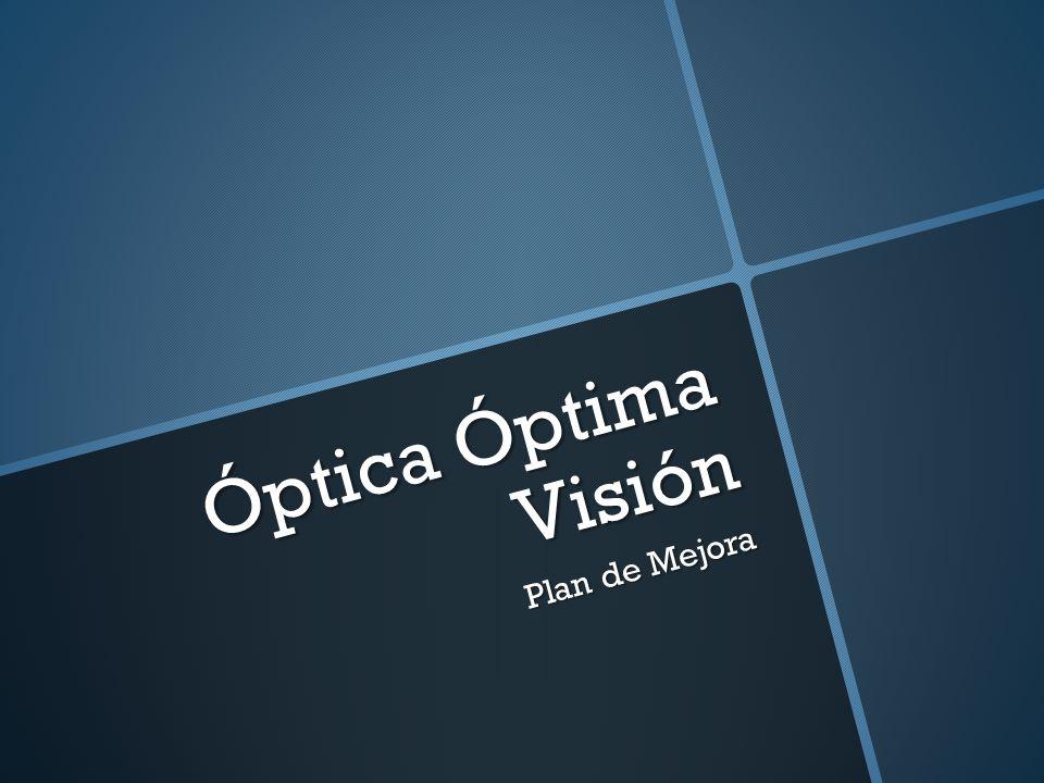 Óptica Óptima Visión Plan de Mejora