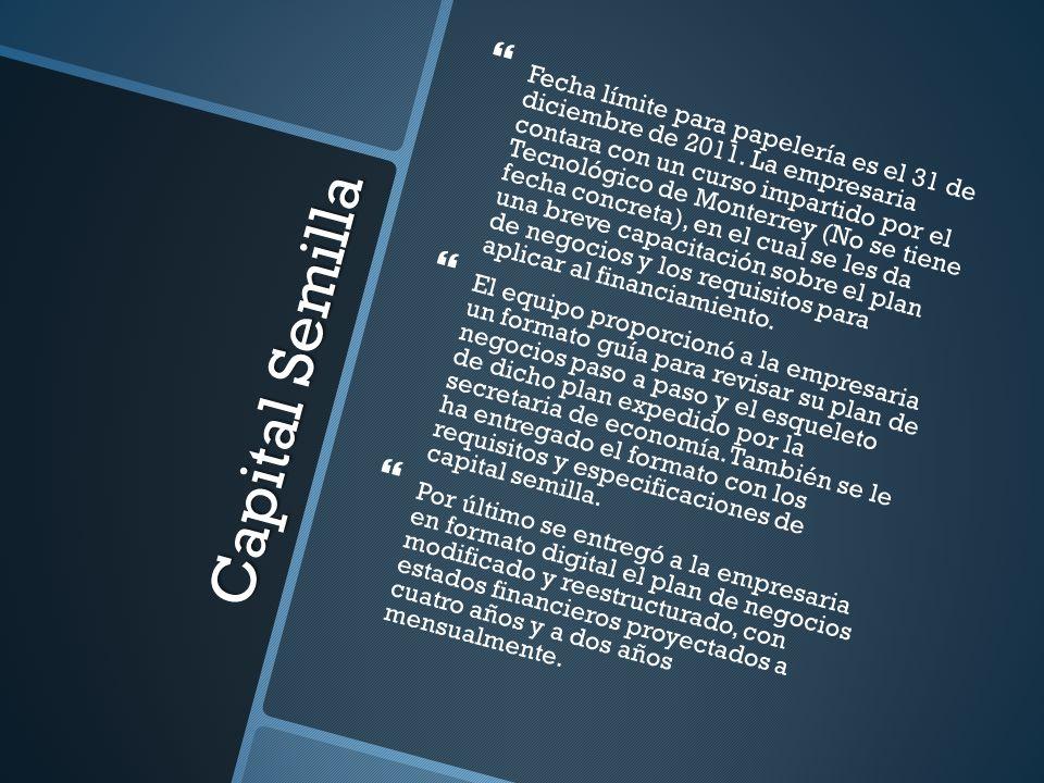 Fecha límite para papelería es el 31 de diciembre de 2011