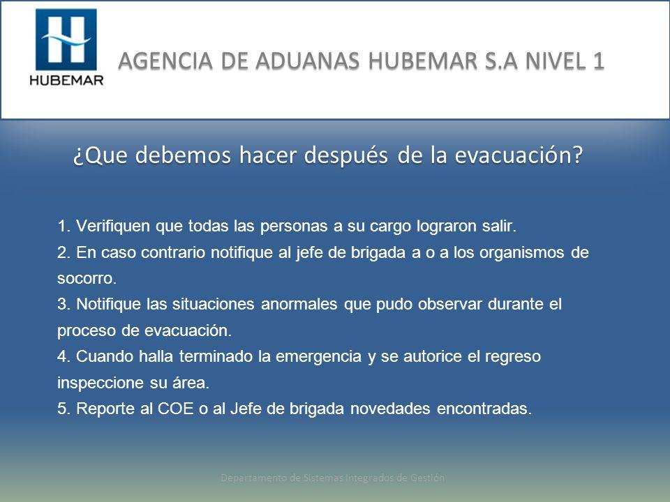 ¿Que debemos hacer después de la evacuación