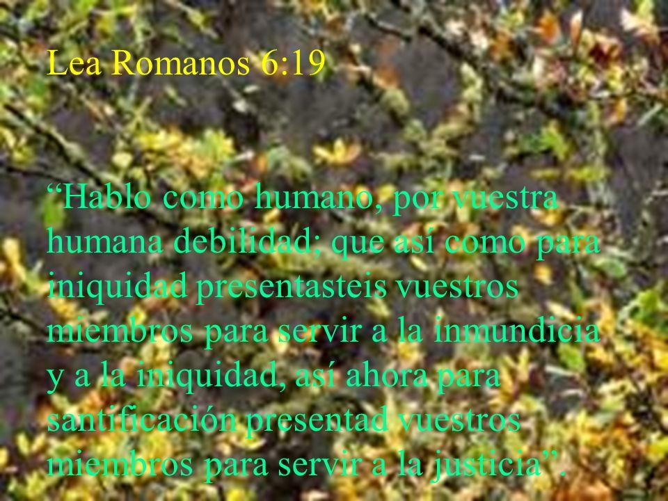 Lea Romanos 6:19