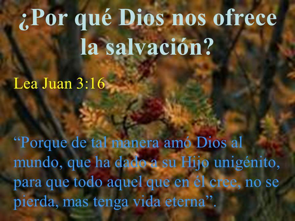 ¿Por qué Dios nos ofrece la salvación