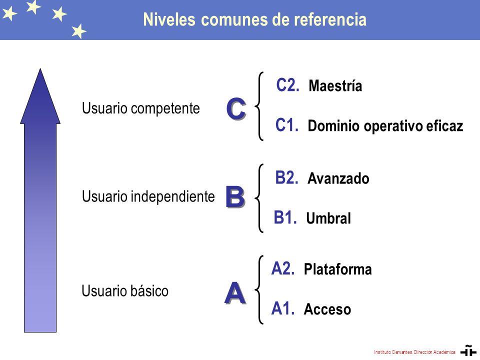 Niveles comunes de referencia