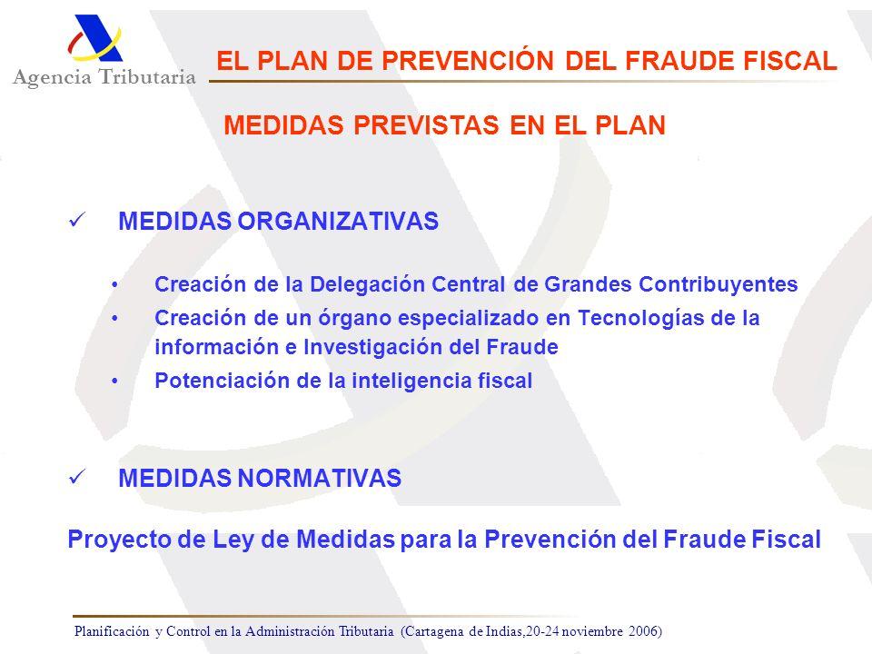 EL PLAN DE PREVENCIÓN DEL FRAUDE FISCAL MEDIDAS PREVISTAS EN EL PLAN