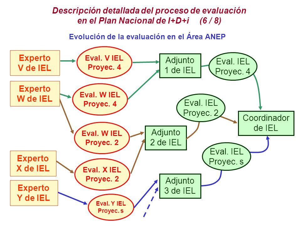 Descripción detallada del proceso de evaluación en el Plan Nacional de I+D+i (6 / 8)