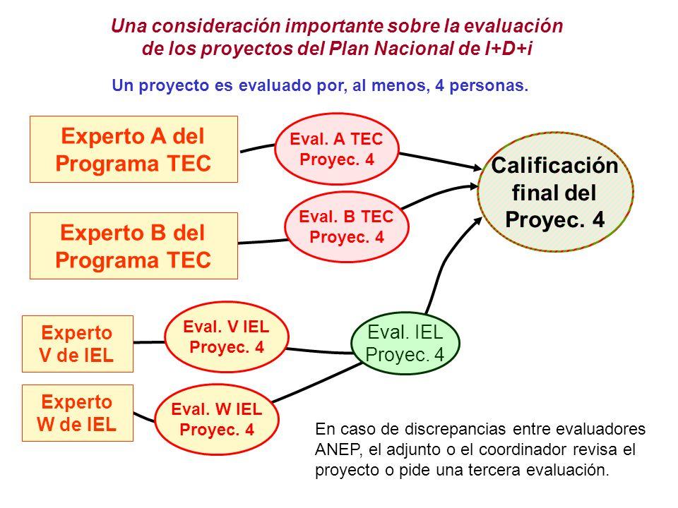 Experto A del Programa TEC Calificación final del Proyec. 4