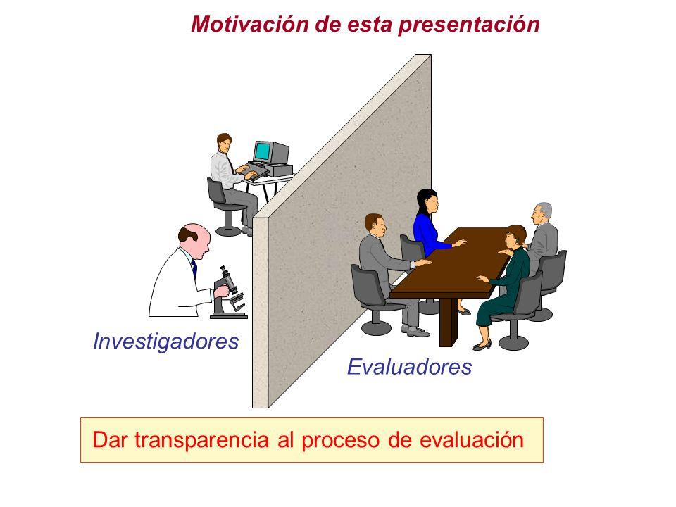 Motivación de esta presentación