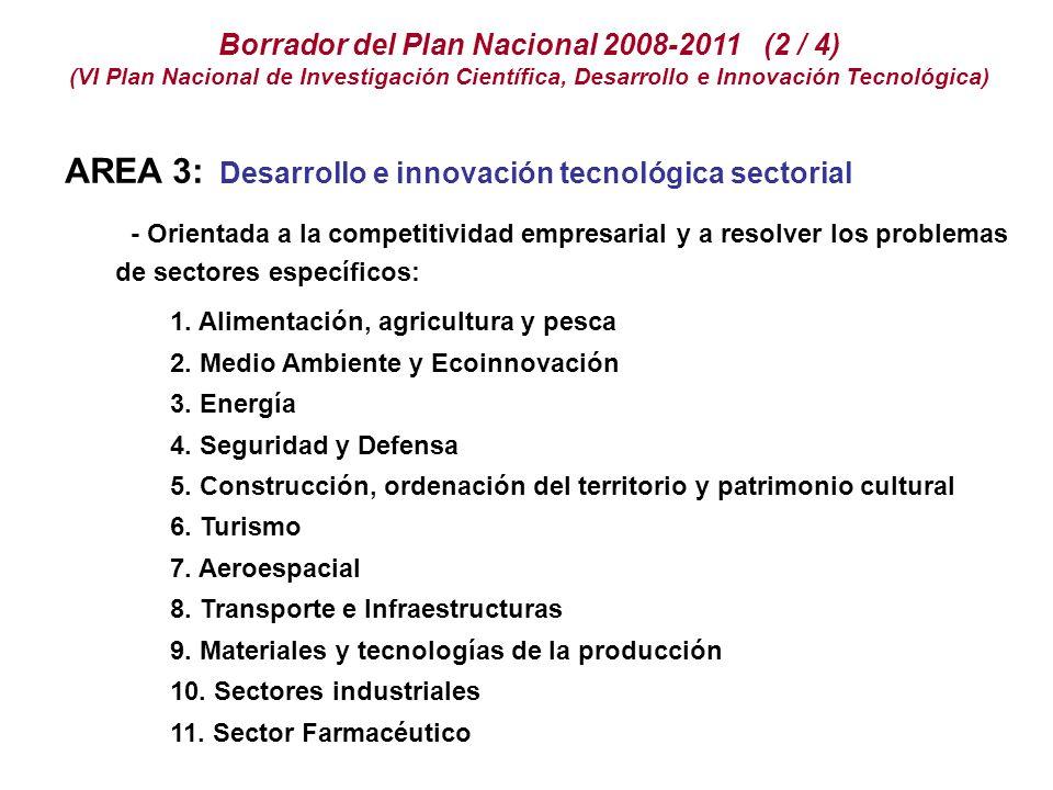 Borrador del Plan Nacional 2008-2011 (2 / 4)