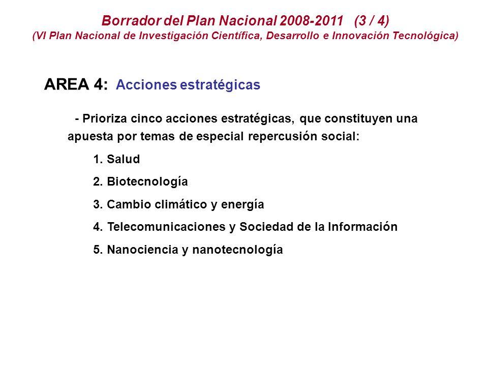 Borrador del Plan Nacional 2008-2011 (3 / 4)