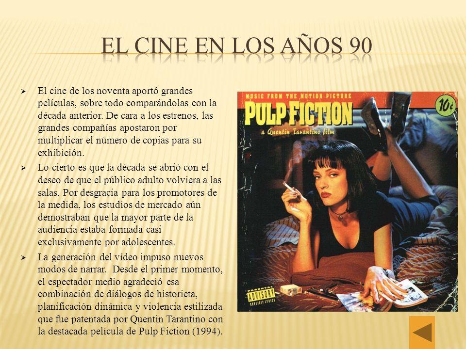 El cine en los años 90