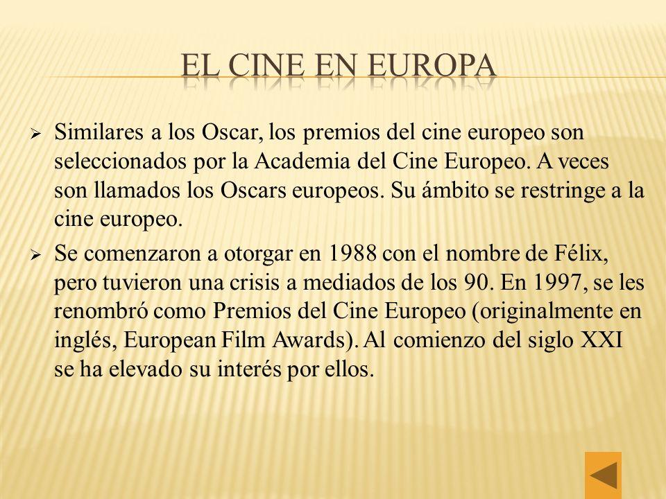 EL CINE EN EUROPA