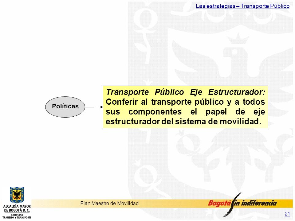 Las estrategias – Transporte Público
