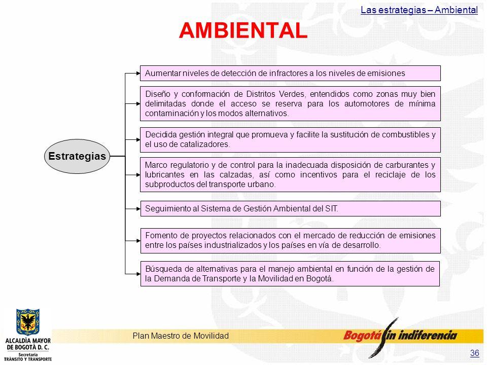 AMBIENTAL Estrategias Las estrategias – Ambiental