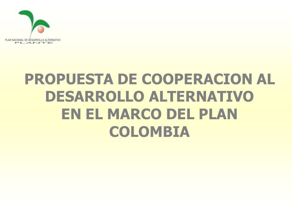PROPUESTA DE COOPERACION AL DESARROLLO ALTERNATIVO