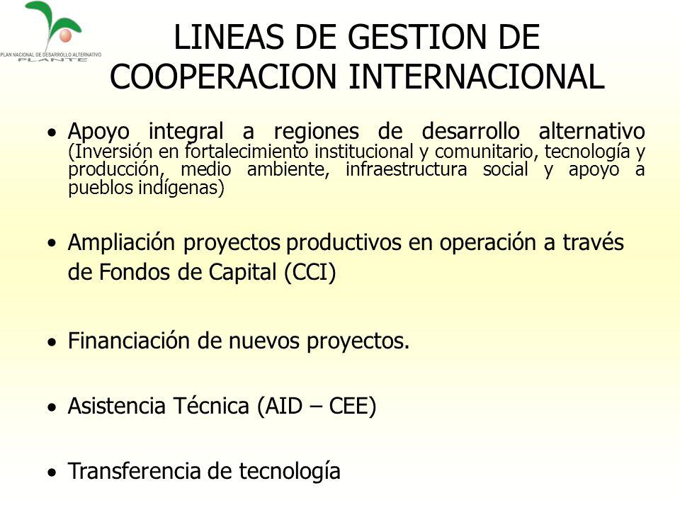 LINEAS DE GESTION DE COOPERACION INTERNACIONAL