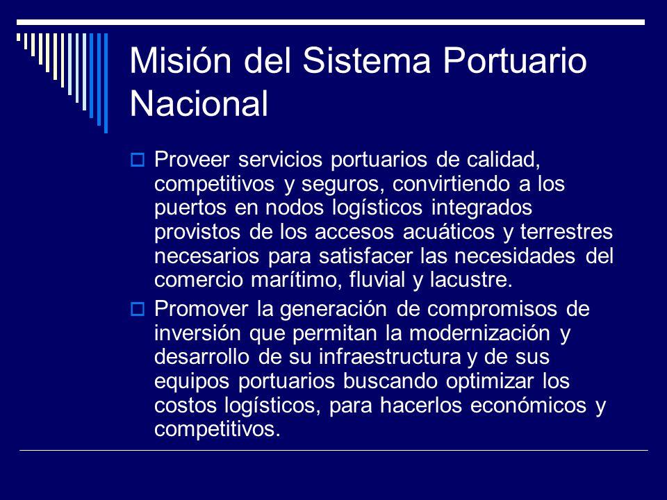 Misión del Sistema Portuario Nacional