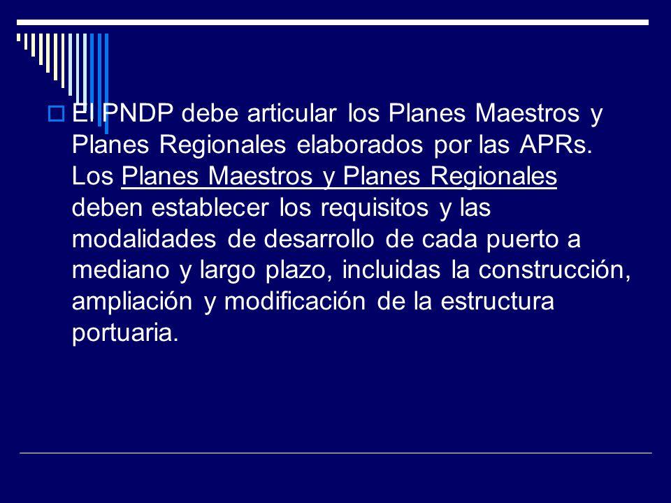 El PNDP debe articular los Planes Maestros y Planes Regionales elaborados por las APRs.