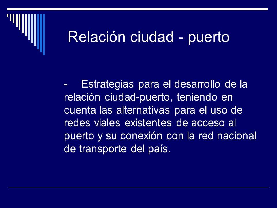 Relación ciudad - puerto