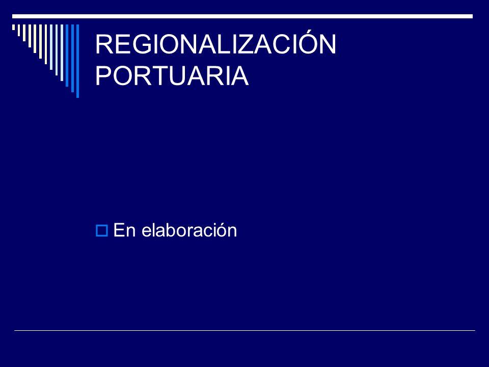 REGIONALIZACIÓN PORTUARIA