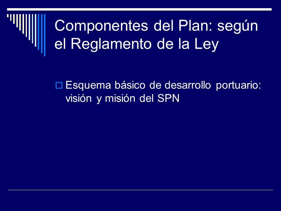 Componentes del Plan: según el Reglamento de la Ley