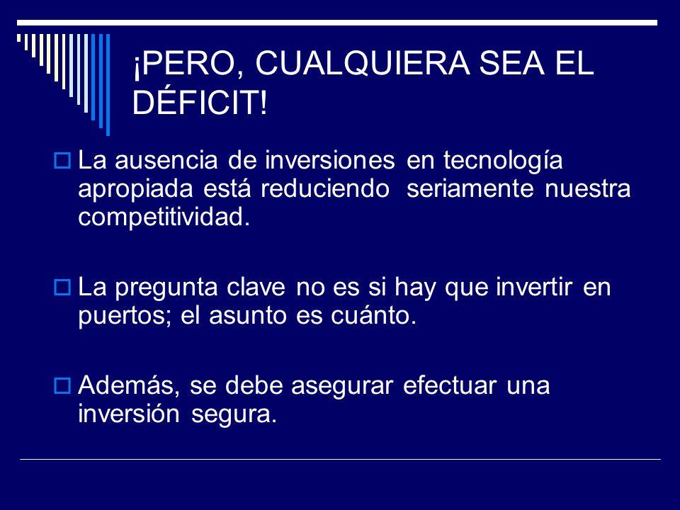 ¡PERO, CUALQUIERA SEA EL DÉFICIT!