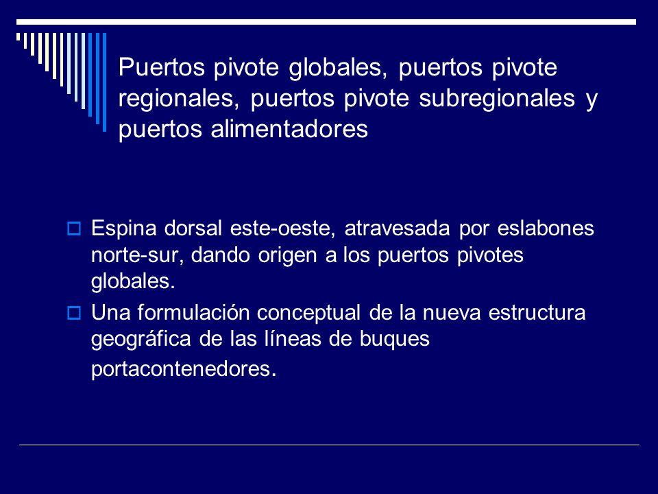 Puertos pivote globales, puertos pivote regionales, puertos pivote subregionales y puertos alimentadores