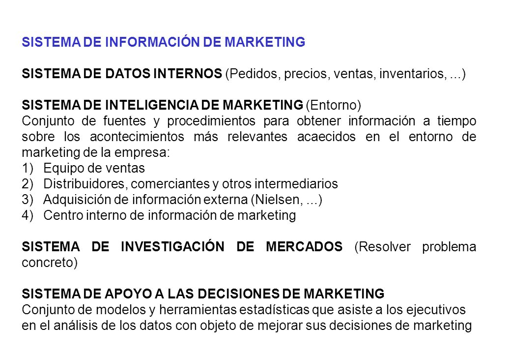 SISTEMA DE INFORMACIÓN DE MARKETING