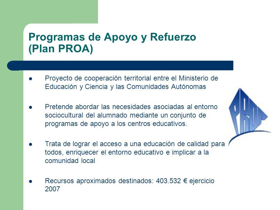 Programas de Apoyo y Refuerzo (Plan PROA)
